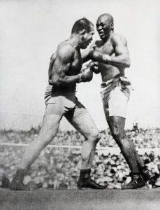 James J. Jeffries fights Johnson in 1910