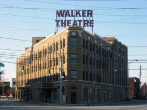 Madame CJ Walker Building, which houses the Madame Walker Theater Center. Indianapolis.