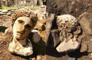 The head of Dionysus was found near the Roman Forum.