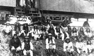 Lozen can be seen in this picture with Geronimo and other warriors (6th from the right in the upper row)