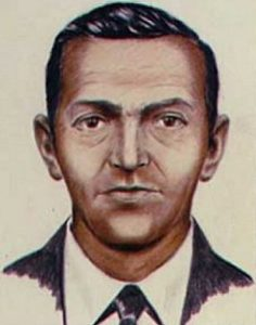 One of several FBI composite sketches of D. B. Cooper.