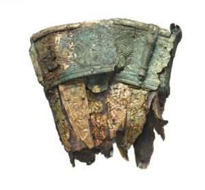 The fittings on the two drinking horns provided vital organic material for successful radiocarbon dating. They gave date ranges for the death of the animal whose horns were used