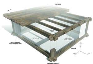 A detailed reconstruction of the timber structure of the Prittlewell princely burial chamber based on organic evidence on items within the chamber