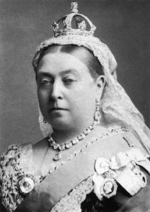 Queen Victoria dressed for the wedding of The Duke and Duchess of Albany by Alexander Bassano, 1882.