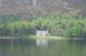 Glas-allt Shiel on the banks of Loch Muick, built on the orders of Queen Victoria as a remote getaway.