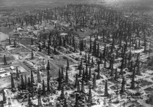 Signal Hill oil field, Long Beach, California, 1937.