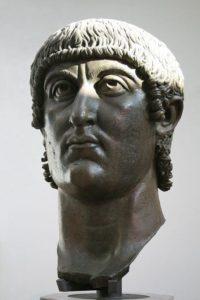 Head of emperor Constantine I.