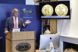 Christopher Webb, director of Dix Noonan Webb's coin department.
