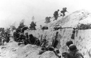 American soldiers arrive at Utah Beach.