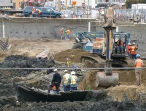Construction workers find a buried ship under downtown San Francisco