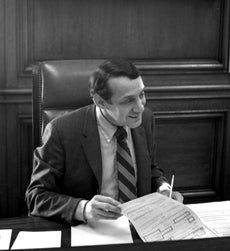 Harvey Milk filling in for Mayor Moscone for a day in 1978.