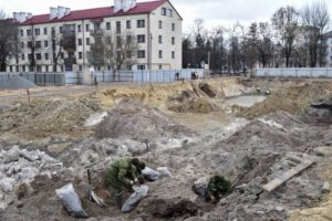 The excavation site in Brest, Belarus.