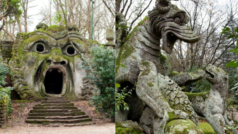 The Park of Monsters – Giant Stone Creatures That Express Duke Orsini's Grief