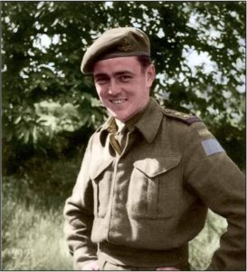 "Lt. James Montgomery ""Jimmy"" Doohan, 14th Field Artillery Regiment of the 3rd Canadian Infantry Division."