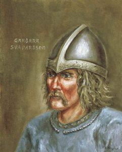 Garðar Svavarsson, artists imagination.