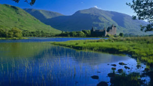 Kilchurn Castle on Loch Awe, Argyll and Bute, Scotland.
