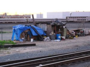 Homelessness in Los Angeles.