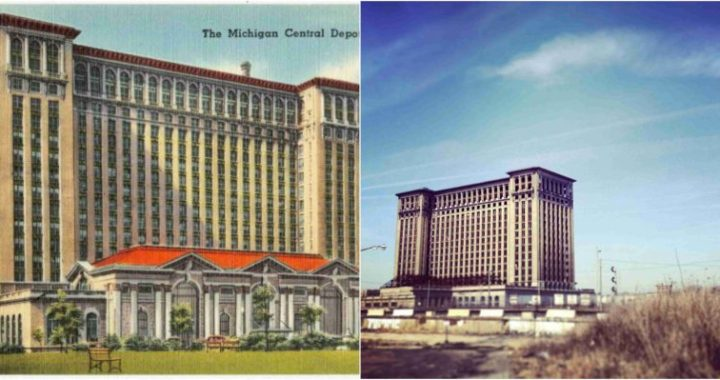 In decaying Detroit station, echoes of Buffalo's Central Terminal