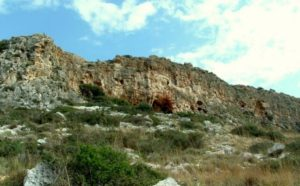 Misliya Cave, the archaeological site where part of an adult upper jaw was found.