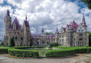 The magnificent Moszna Castle.
