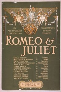 Theatre poster for Shakepeare's 'Romeo and Juliet'