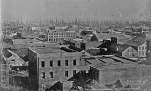 San Francisco in 1851 at the height of the California Gold Rush.
