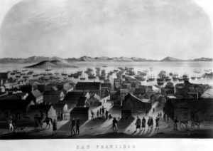 A view over the bay in 1849