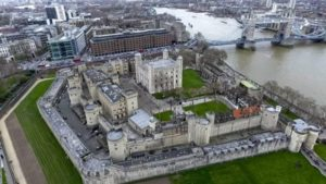Ariel view of the Tower of London