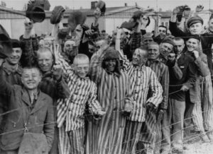 Some of the young prisoners of Dachau, newly freed by American troops.