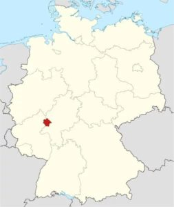 Location in Germany of the blast.