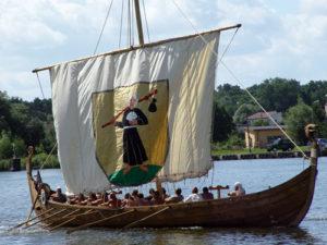 A modern replica of a Viking ship