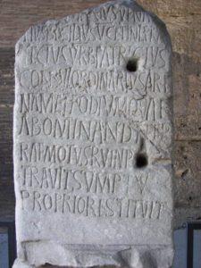 Rome Colosseum inscription.