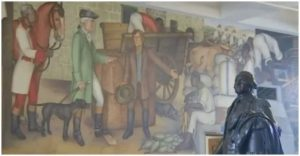 Another controversial image of the George Washington mural.