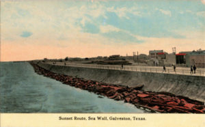 1907 postcard of the Texas leg of the trip.