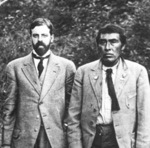 Ishi, the last known member of the Yahi tribe, with anthropologist Alfred L. Kroeber.