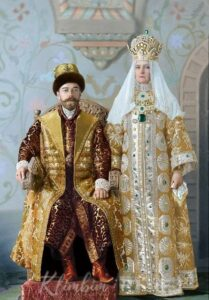 The Imperial couple Tsar Nicholas II and Empress Alexandra.