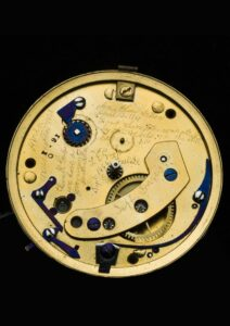 The interior of Abraham Lincoln's pocket watch.