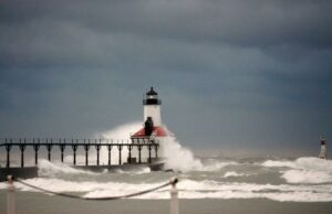 Lighthouse in Benton Harbor, Michigan