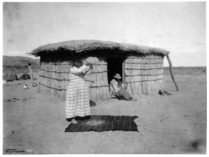 A Pima woman in Arizona in 1902.