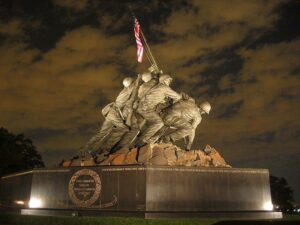 The Marine Corps memorial in Washington D.C.
