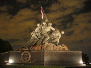 The Marine Corps memorial in Washington D.C.