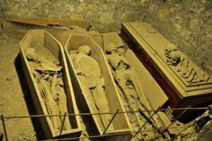 Mummies in St Michan's Church crypt.