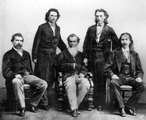 The Cherokee delegates who negotiated the 1866 treaty with the U.S. government in Washington, D.C.