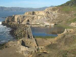 The ruins of the old Sutro Baths, San Francisco. The baths were open for swimming from 1894-1952.