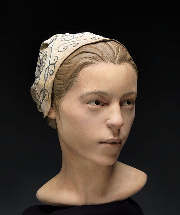 Researchers create a reconstruction from remains of a 14-year-old girl of the Jamestown colony who may have been a victim of cannibalism.