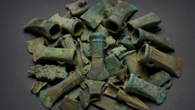 Mystery over 'extraordinary' haul of Bronze Age weapons unearthed in London leaves experts baffled
