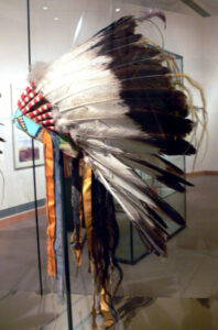 Feather headdress; Crow, c. 1880; North America department, Ethnological Museum, Berlin, Germany (Harvey collection, 1905)