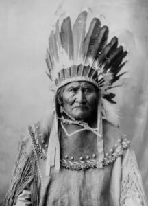 Geronimo (1829-1909), Apache chief who led the opposition to the U.S. policy to relocate his people on reservations.