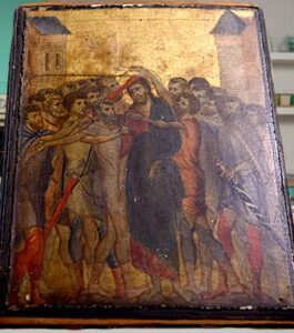 "The painting found – ""Christ Mocked"" by Cimabue."