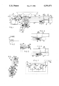 "Lonnie Johnson's ""Squirt Gun,"" patented May 27, 1986 (U.S. Patent 4,591,071)"
